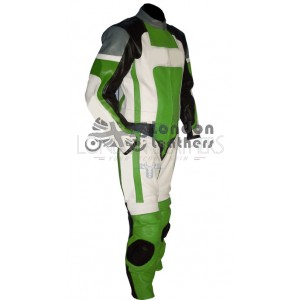 RTX Ninja Green Pro Racer Motorcycle Leather Suit