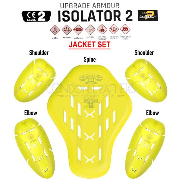 Forcefield ISOLATOR 2 CE Level 2 Motorcycle Jacket Armour Insert Upgrade Set 001