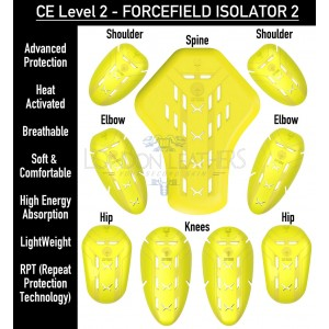 Forcefield Level 2 Shock Absorbing Impact Limb & Back Protection Armour Upgrade