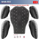 SAS-TEC CE Level 2 Motorcycle Armour Biker Jacket Protection Set of 5 Inserts