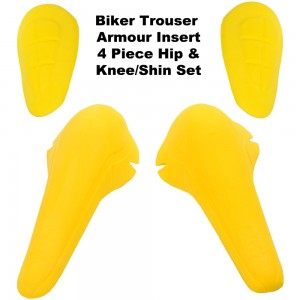 Internal Trouser Armour Shock Protector Shin Knee & Hip Set