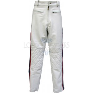Evel KNIEVEL Legendary White Premium Full Leather Trouser