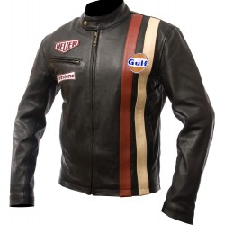 SALE - Steve Mcqueen Gulf Firestone Black Leather Jacket - M