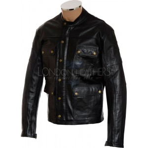 RTX Speedmaster Pure Leather Black Biker Jacket