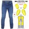 RTX Pro Blue Motorcycle Biker Denim JEANS with FORCEFIELD CE Level 2 Armour & Made with Full Leg Length Kevlar Lining