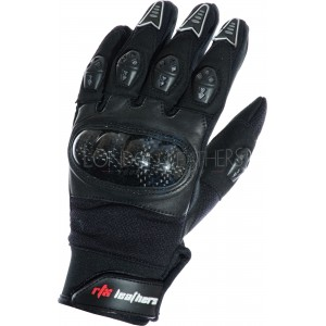 RTX MotoCross Pro Black Leather Gloves