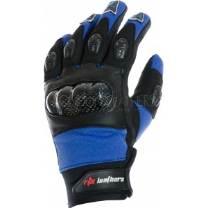 RTX MotoCross Pro Yamaha Blue Leather Gloves