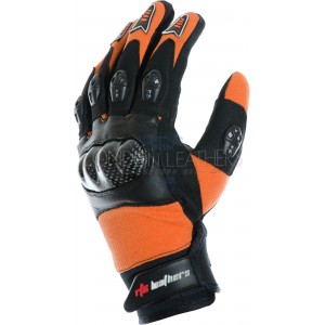 RTX MotoCross Pro KTM ORANGE Leather Gloves