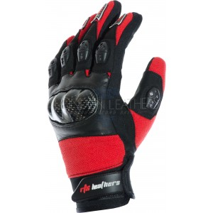 RTX MotoCross Pro Red Leather Gloves