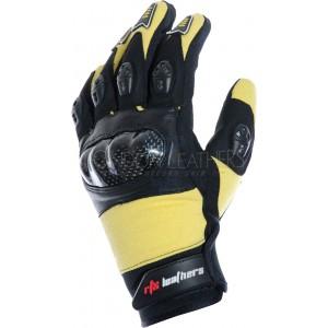 RTX MotoCross Pro Suzuki Yellow Leather Gloves