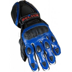 Neon Original Blue Pro Vented Leather Motorcycle Gloves