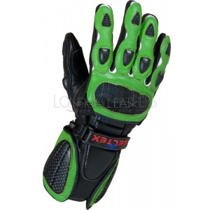 Neon Original Green Pro Vented Leather Motorcycle Gloves