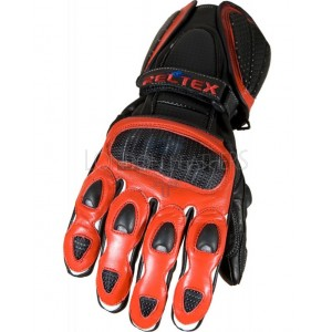 Neon Original Red Pro Vented Leather Motorcycle Gloves