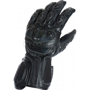 RTX Neon Black Vented Biker Gloves