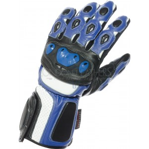 RTX Neon Blue Vented Biker Gloves