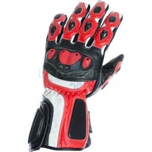 RTX Neon Red Vented Biker Gloves