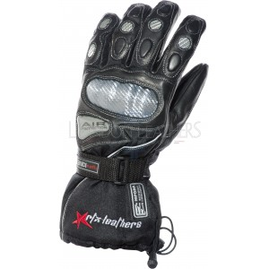 RTX Hydro Kinetic Leather Thermal Winter Motorcycle Gloves