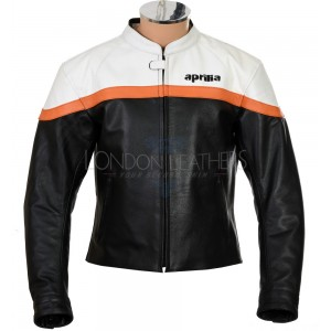 Aprilia Vintage Classic Leather Motorcycle Biker Jacket