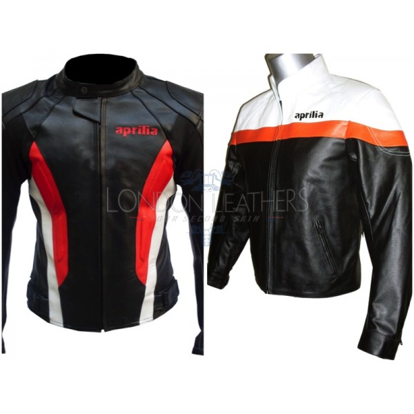 Custom Made APRILIA Leather Motorbike Jacket