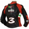 Aprilia Max Leather Motorcycle Biker Jacket