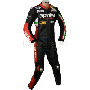 Aprilia Max Motorcycle Leather Biker Suit