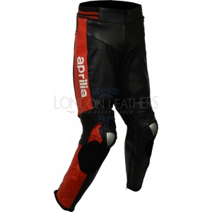 Aprilia Max Racing Leather Motorcycle Trouser Pants