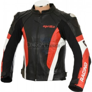 Aprilia RS4 Leather Motorcycle Biker Jacket