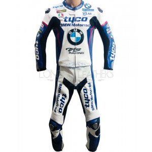 Tyco BMW BSB Racing Team Replica Motorcycle Race Leathers Suit