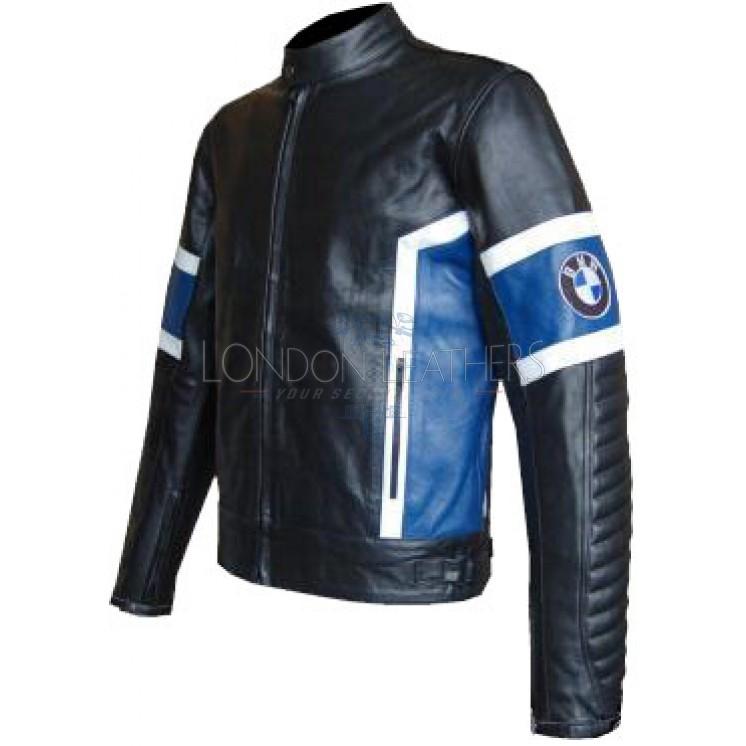 BMW Classic Black Leather Motorcycle Jacket