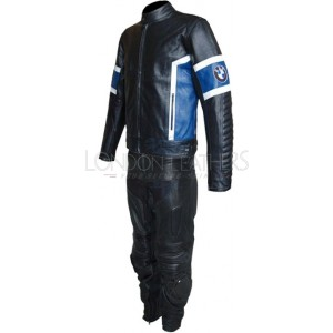 BMW Classic Black Leather Motorcycle Suit
