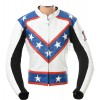 Evel KNIEVEL White Leather Two Piece Motorcycle Suit