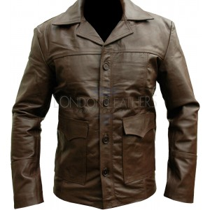 HITMAN Classic Brown Leather Motorcycle Jacket