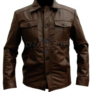 MAFIA Classic Brown Leather Motorcycle Jacket