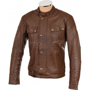 RTX Roadmaster Pure Brown Leather Biker Jacket