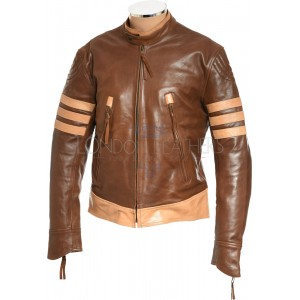 LOGAN Wolverine XMEN Brown Leather Jacket