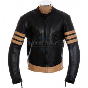 LOGAN Wolverine XMEN Black Leather Jacket