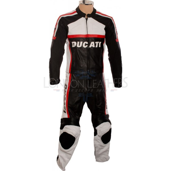 Ducati Classic Black Leather Motorcycle Suit