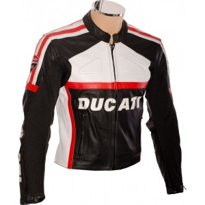 SALE - DUCATI Classic Black Motorcycle jacket - Small