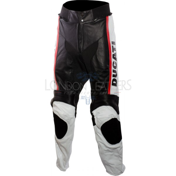 Ducati Black Classic Leather Motorcycle Trouser