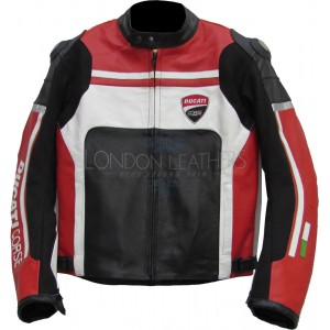 Ducati Streetfighter Racing Leather Biker Jacket