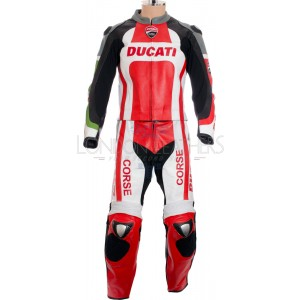 Ducati Corse Tri-Colour Leather Motorcycle Suit