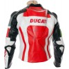 Ducati Corse Tri Colour Leather Motorcycle Jacket