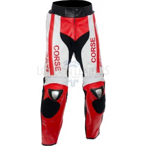 Ducati Corse Tri-Colour Leather Motorcycle Trouser