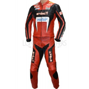 SALE - DUCATI ARUBA.IT Racing Team MOTOGP Motorcycle 2 Pc Suit - LARGE