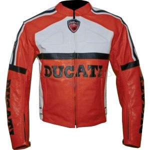 Ducati RED Classic Leather Motorcycle Jacket