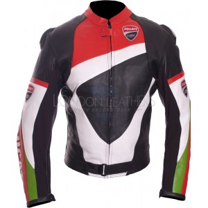 Ducati Corse Pro Race Biker Leather Motorcycle Jacket