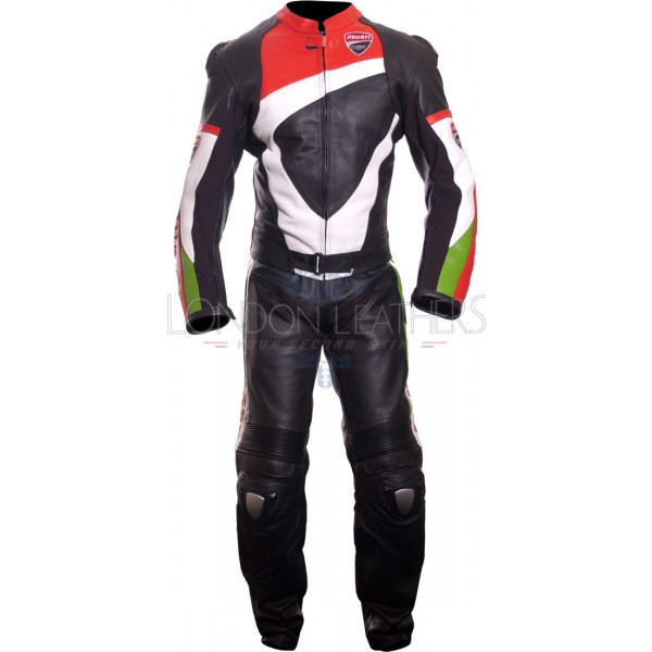 Ducati Corse Pro Biker Racing Motorcycle Leathers