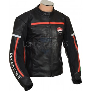 Ducati Diavel Racing Leather Motorcycle Jacket