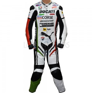 Ducati Corse Panther Biker One Piece Race Replica Motorcycle Leathers