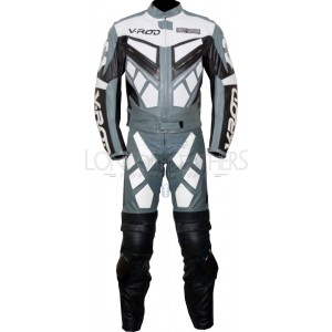 Harley V-ROD Classic Grey 2pc Leather Biker Suit